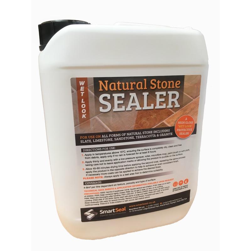 Sandstone Natural Stone Sealer Wet Look Finish Smartseal