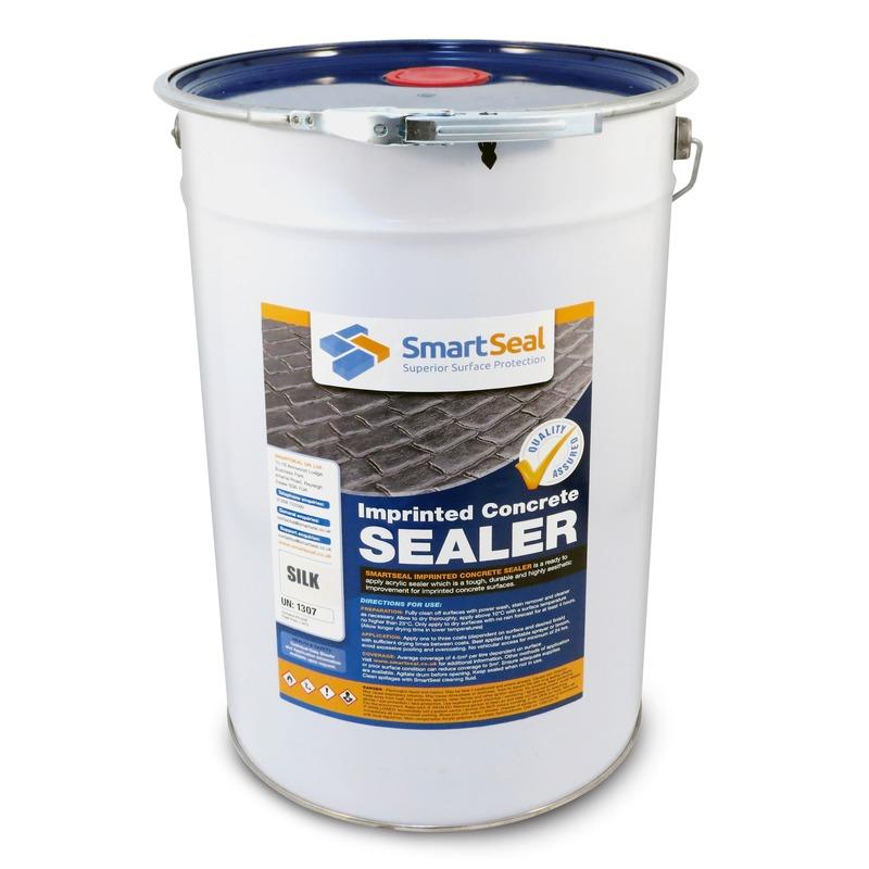 Imprinted Concrete Sealer in a Silk or Satin Finish - Smartseal