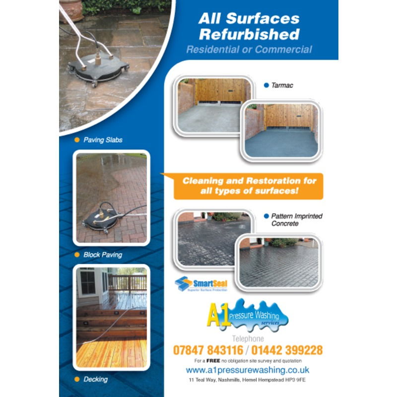 Flyers And Leaflets For Pressure Cleaning Smartseal