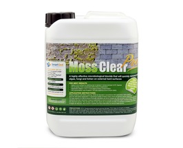 MOSS CLEAR PRO - Concentrated PROFESSIONAL  Highly Effective Roof & Paving MOSS & ALGAE Remover & Killer (5 & 25 L)