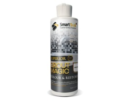 Grout Magic - 237ml - MID GREY grout restorer & sealer to recolour grout.