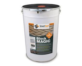 'BLOCK MAGIC'  Sealer BLACK (sample 5 & 25 L) Re-colour Old Block Paving -  ALWAYS- Apply 2nd coat of CLEAR Sealer