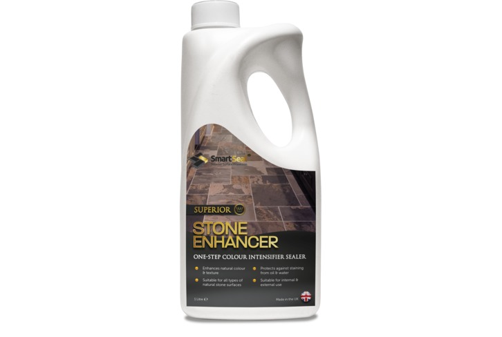 Superior Stone Enhancer for Natural Stone (Available in 1 & 5 Litres) Protects against oil and water based stains, whilst enhancing the natural stone colours, leaving a matt finish.