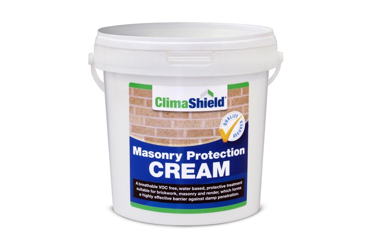Masonry Protection Cream (5 sizes) Damp Proofer & Brick Sealer. Dry, Invisible Finish; Breathable; 25 Year Protection