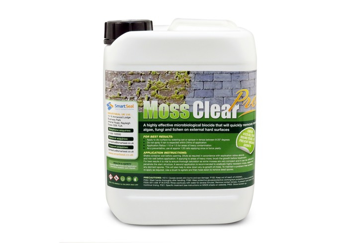 Moss Clear Pro - Fast Acting Moss, Algae & Mould Remover