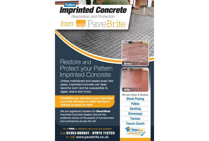 Imprinted Concrete Sealing - Flyers