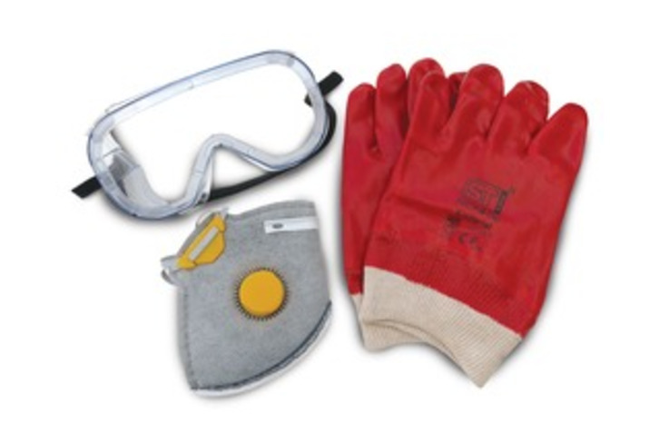 'Safety Wear Pack'  Vapour Mask (with filter), Gloves and Goggles