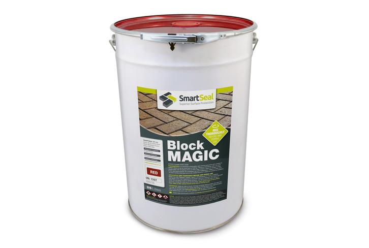 'BLOCK MAGIC'  Sealer RED  (sample 5 & 25 L) Re-colour Old Block Paving -  ALWAYS- Apply 2nd coat of CLEAR Sealer