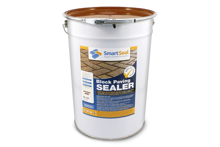 'BLOCK MAGIC' Sealer - BROWN - ( Sample, 5 & 25 Litres) - Recolour to Your Old Block Paving to Make it Look Like New