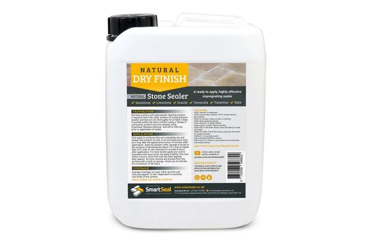 Natural Stone Sealer 'DRY' Finish - High Quality, Impregnating, Durable Sealer for Sandstone, Limestone, Slate, Granite & more