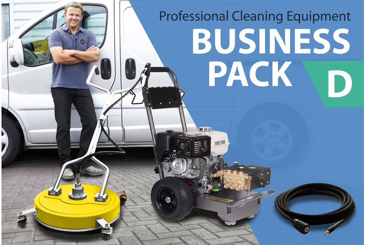 DRIVEWAY & PATIO CLEANING (Business Package D) Commercial Pressure Washer & Rotary-Headed Cleaner