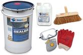 DIY Imprinted Concrete Package  Includes  Sealer, Anti Slip, Safety Wear & Sealing Broom