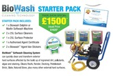 BIOWASH Cleaning  'Starter Pack' Chemical Resistant 'Marlin' Petrol Machine, 1 x Training Day and 3 x 25L Cleaning Products